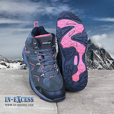 VANGO Contour Femmes Marche//Chaussures de randonnée étanche Anthracite//Rose UK 3-9