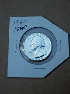 1960-Proof-Washington-Quarter-90-silver-coin-Uncirculated-in-sleeve