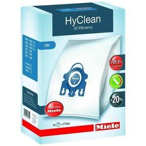 4-x-Genuine-Miele-GN-HyClean-Vacuum-Dust-Bags-Filters-amp-Air-Fresheners