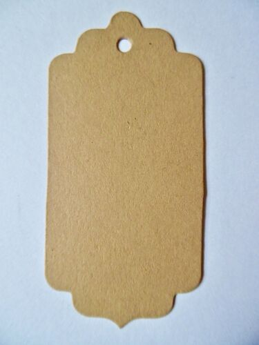 24 or 31 Scallop Fancy shape gift tags labels 31 colours or assorted multi-buy