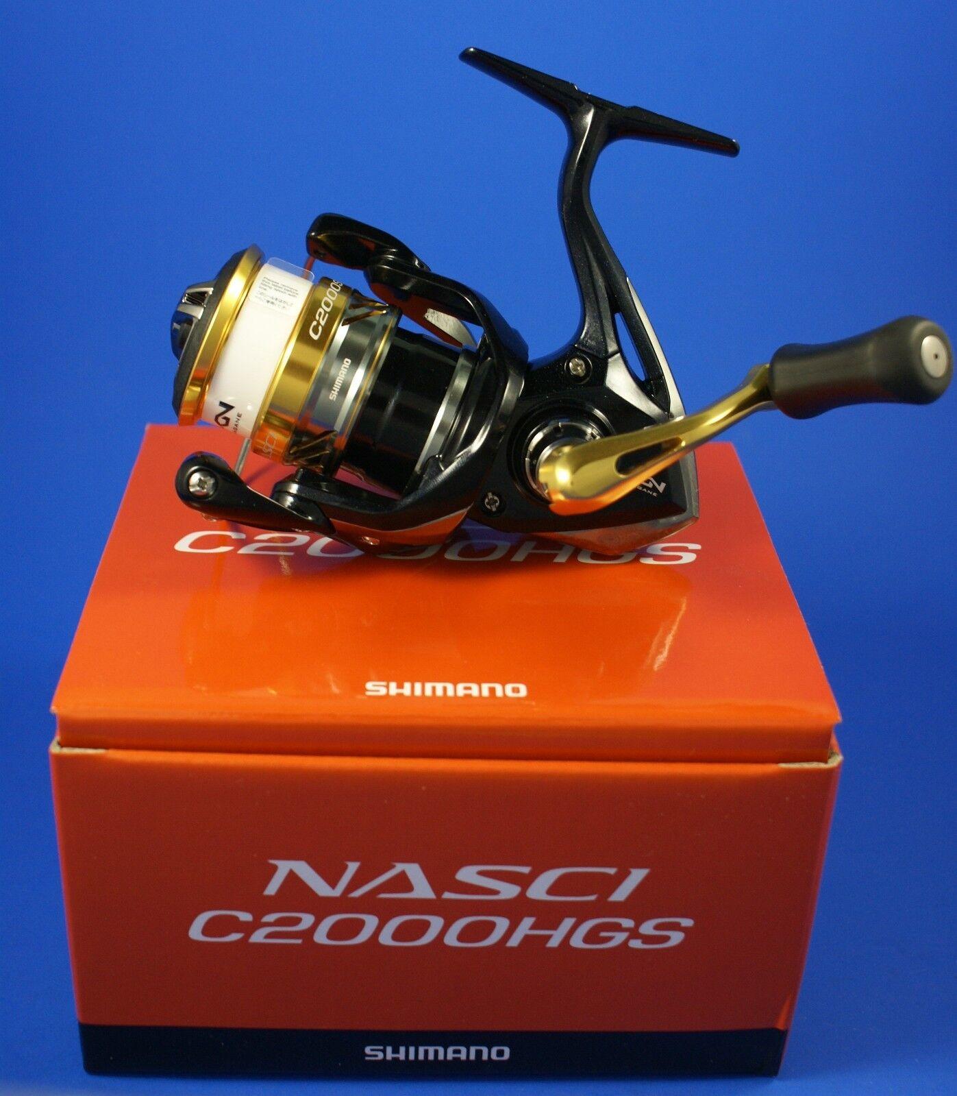 Shimano concubina C2000HGS FB  NASC 2000 hgsfb  mulinello da pesca trascinamento frontale