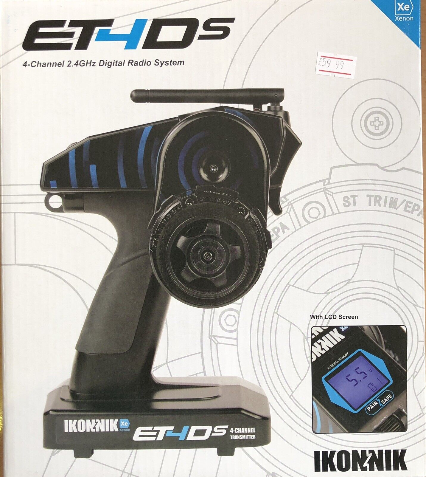 ET4Ds 4 Channel 2.4GHz Digital Radio System (RC Car)