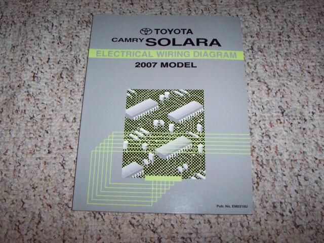 2007 Toyota Camry Solara Electrical Wiring Diagram Manual