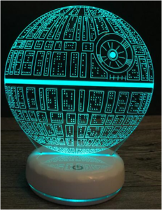 Creative-3D-LED-Lamp-Death-Star-Powered-Through-USB-New-Shipped-From-Melbourne