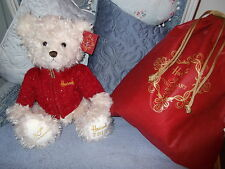HARRODS 2015 BENEDICT 30th ANNIVERSARY XMAS BEAR WITH FREE DUSTBAG BNWT SOLD OUT
