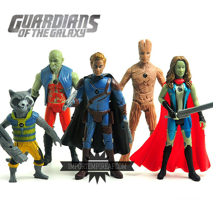 GUARDIANI DELLA GALAXIE SET 5 STATUETTES CARACTÈRES ACTION FIGURINES groot