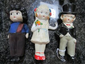 3-BISQUE-DOLLS-FROZEN-LEGS-AND-MOVABLE-ARMS-5-034-BOOKSHELF