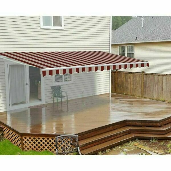 ALEKO AWM20X10MSRED19 Motorized Retractable Patio Awning ...