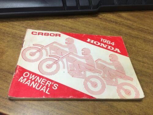 NOS OEM 1984 Honda CR80R Owners Manual 31GC4610