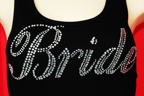 RHINESTONE  BRIDE TANK  TOP NEW  MADE IN USA    WEDDING