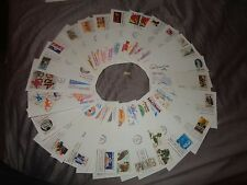 First Day Covers USA X 26 C1980's varios sellos pacientes (8) US Postal Service