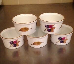 Charmant Image Is Loading 5 Royal Worcester Oven To Table Ware Custard