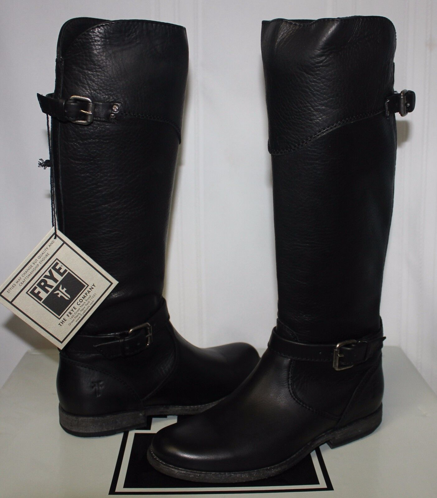 Frye Women's Phillip Riding Boots Style 76844 Black New With Box!