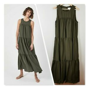[ WITCHERY ] Womens Yoke Tiered Maxi Dress - Current | Size AU 14 or US 10