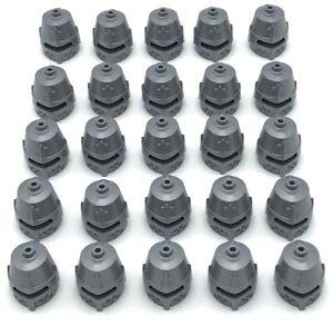 LEGO 25 NEW GREEN MINIFIGURE HATS HEADGEAR CURVED BILL BASEBALL CAP PIECES