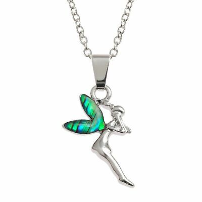 18 925 Sterling Silver Abalone Shell Mermaid Pendant Necklace