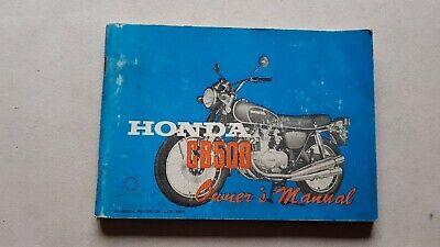 Ben Informato Honda Cb 500 F K1 1972 Manuale Uso Originale Owner's Manual