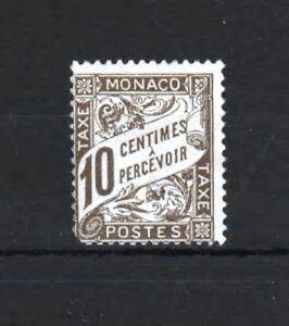 MONACO-STAMP-TIMBRE-TAXE-N-4-034-10c-BRUN-034-NEUF-xx-A-VOIR-VALEUR-1110-R411