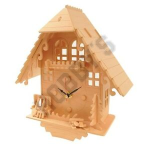 Cuckoo clock wood craft assembly wooden construction clock kit ebay - Cuckoo clock plans ...