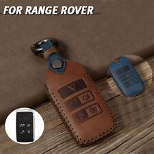 For Range Rover Sport Evoque Jaguar Leather Car Smart Key Fob Case Holder Cover Fits More Than One Vehicle