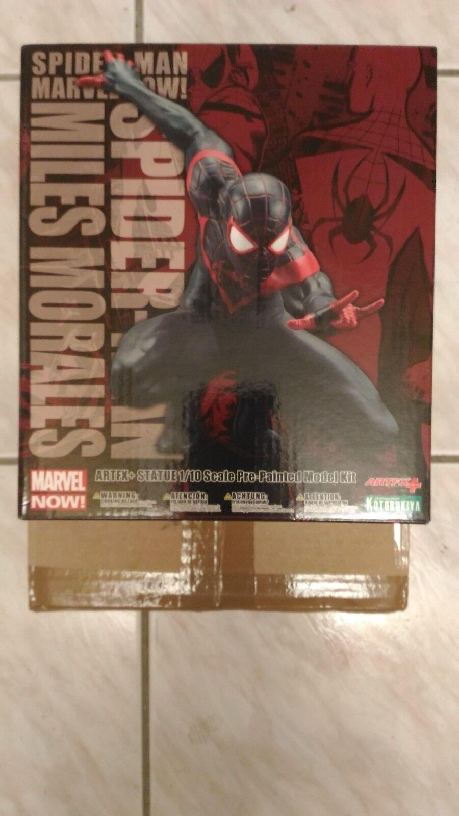 Marvel Now  Spiderman Miles Morales ArtFx Statue Read Description