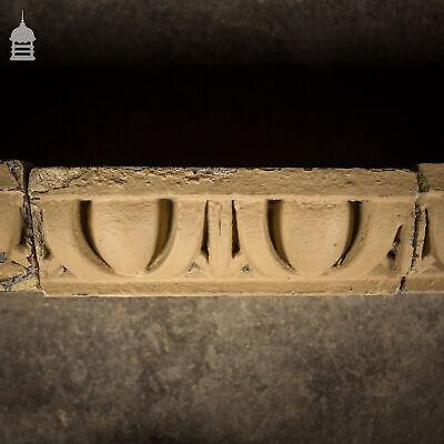 Batch Of 16 Decorative Egg & Dart Suffolk White Buff Special Header Bricks Antiques Architectural & Garden