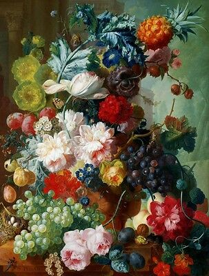Canvas Print Flower Oil painting Picture Printed on canvas 16x20 Inch HD100