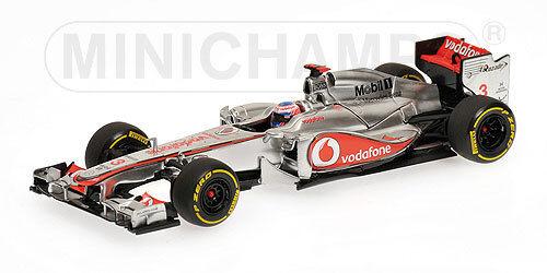MINICHAMPS 530 124373 McLAREN MERCEDES F1 model Showcar J Button 2012 1 43rd