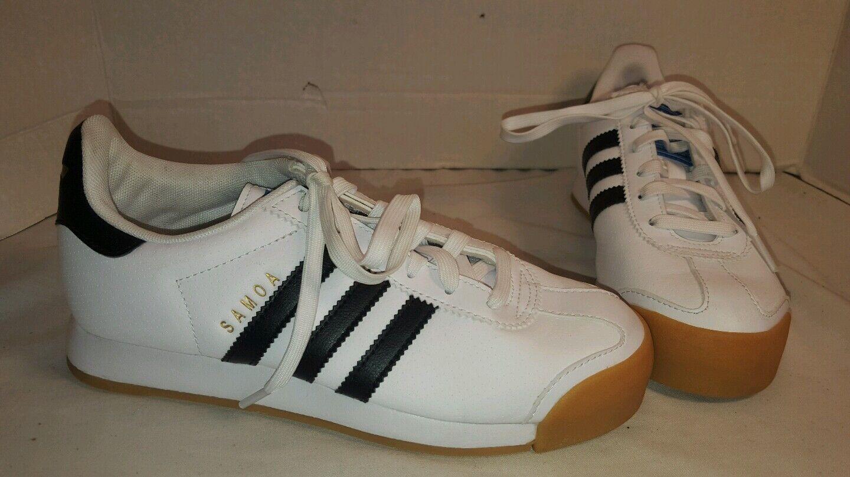 neue männer größe adidas samoa white & schwarzes leder schuhe größe männer 4,5 / 3 0e3fc4