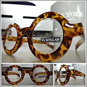 e8bbbc5da9 Mens VINTAGE 50s RETRO Style Clear Lens EYE GLASSES Round Tortoise ...