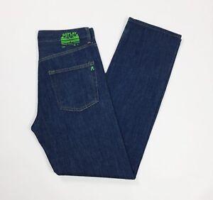 Replay-jeans-uomo-usato-gamba-dritta-slim-vintage-W29-tg-43-vita-alta-blu-T3740