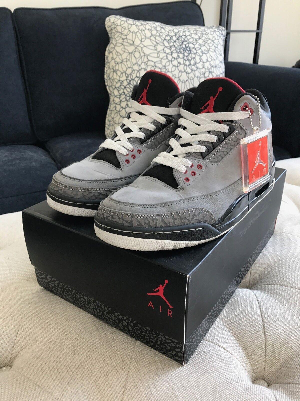 Nike Air Jordan 3 Retro  Stealth  Men's Size 9.5
