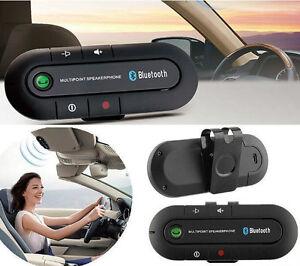 Wireless Multipoint Bluetooth Hands Free Car Kit Speakerphone Speaker Visor zp