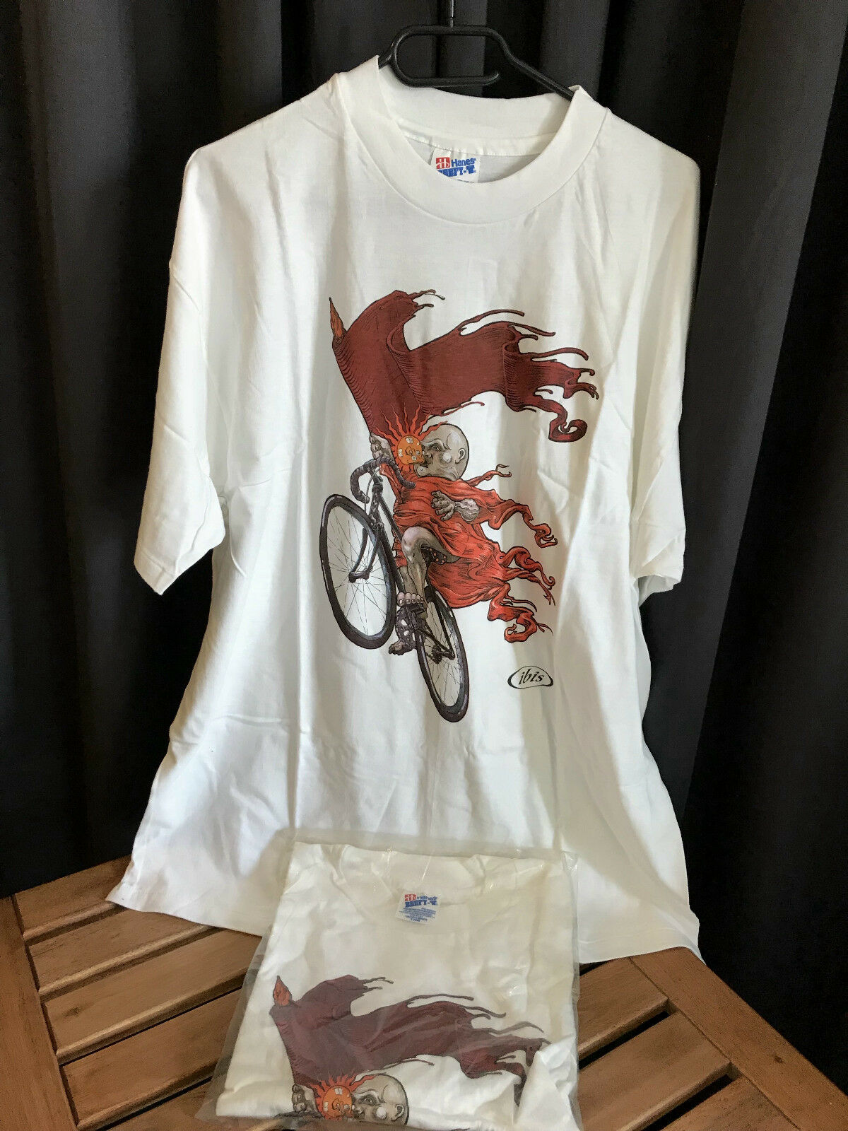 Cult rare 100% NOS Vintage oldschool IBIS IBIS IBIS cycles T-SHIRT  in XL fdf6e2