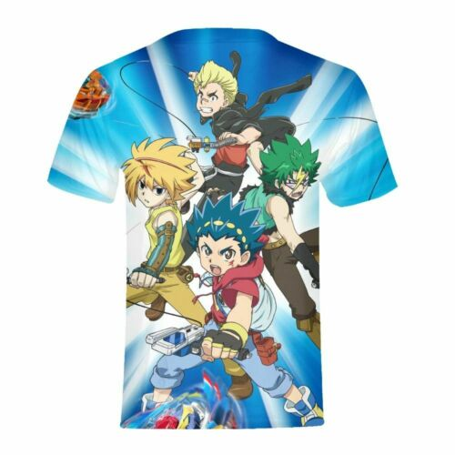 Anime Beyblade Kids T-shirt  Summer Boys Short Sleeve Cool Tee Funny Custom