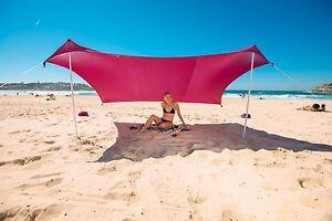 ZiggyShade Beach Sunshade Tent With Sandbag Anchors -