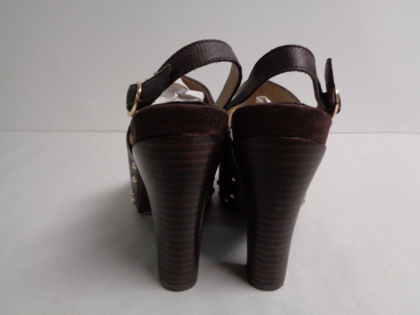 Kenneth Cole Reaction Größe 6.5 LOOK AWAY Braun Leder Heels NEU Damenschuhe Schuhes