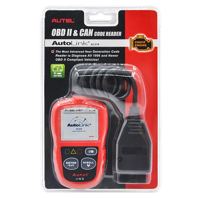 Autel Autolink AL319 OBD2 CAN OBDII Auto Car Code Reader Diagnostic Scanner Tool 12