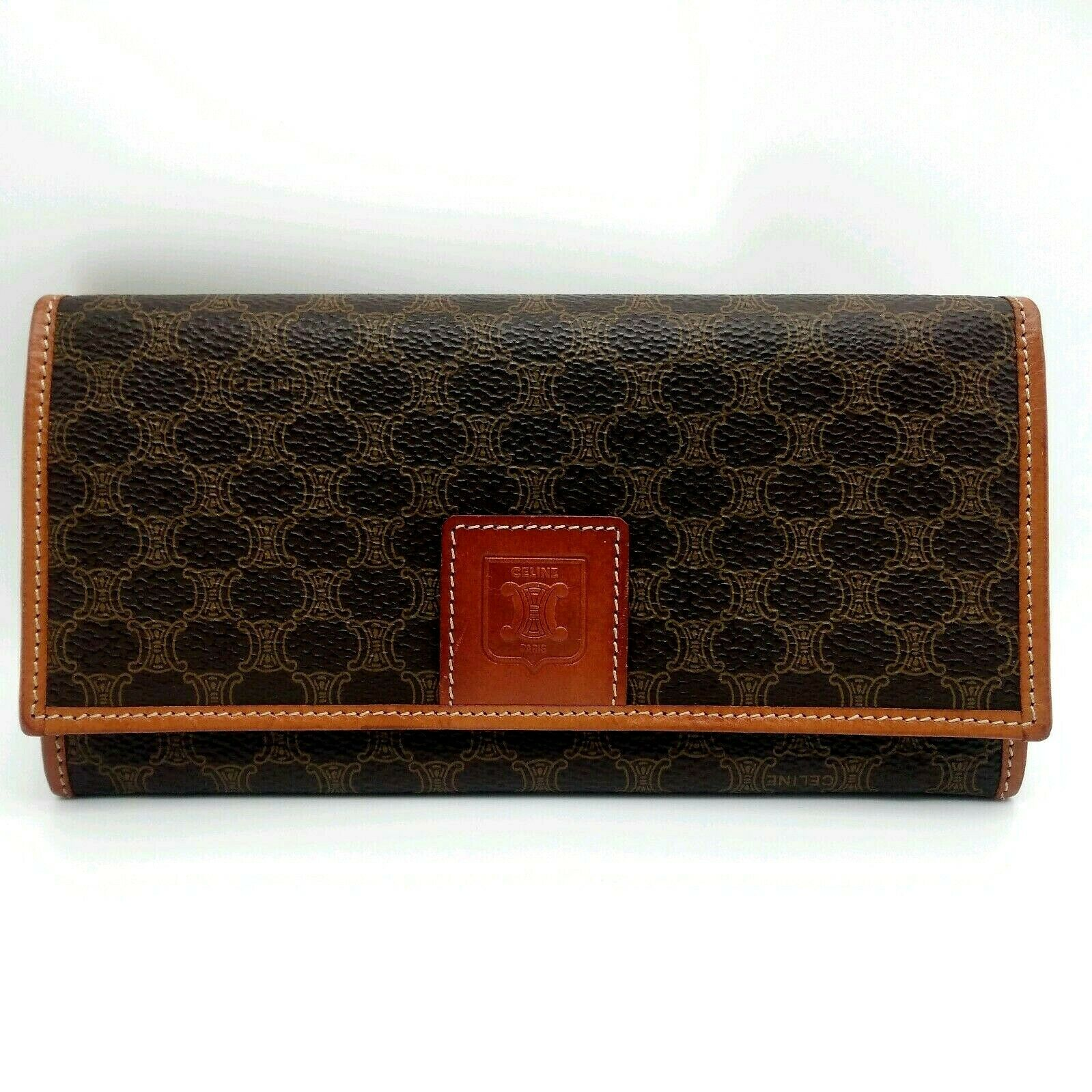 【RANK AB】Authentic Vintage Celine Macadam wallet from Japan R010