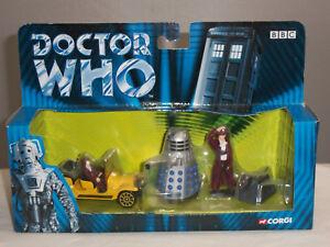 Corgi Ty96201 Dr Doctor Who Série Tv Bessie Voiture Dalek K9 Figurine En Métal Ensemble 807903962011