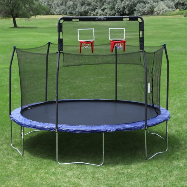 Skywalker Trampolines Double Basketball Hoop For 15 60 97brand New Free Add To Cart 12 Ft Round Trampoline With Enclosure