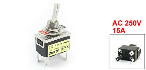 AC250V 15A DPST 2 Positions 4 Pin Terminals Rocker Type Toggle Switch