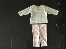 Juicy Couture New & Genuine Baby Girls Pink Cotton Set 0/3 MTHS With Crown Logo