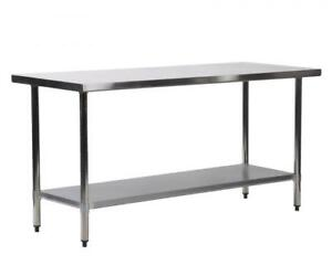 24 x 72 stainless steel kitchen work table commercial kitchen