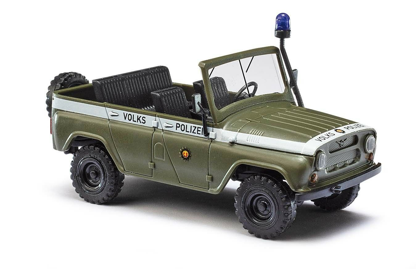 Busch 52105 Uaz 469 without Roof, People's Police, Car Model 1 87 (H0)