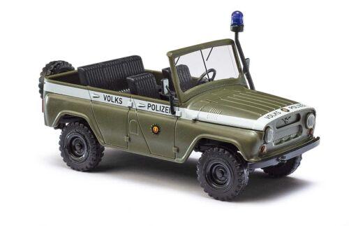 Busch 52105 UAZ 469 ohne Dach, Volkspolizei, Auto Modell 1:87 (H0)