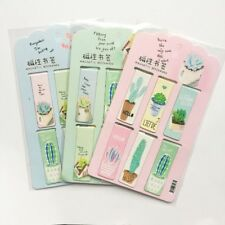6PCS Plant Cactus Magnetic Bookmark Page Marker School Office Paper Clip KIT