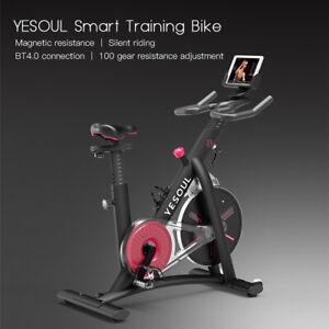 YESOUL Heimtrainer Trimmrad mit Tablet-Halter Indoor Fitnessbike APP 120kg J0T3