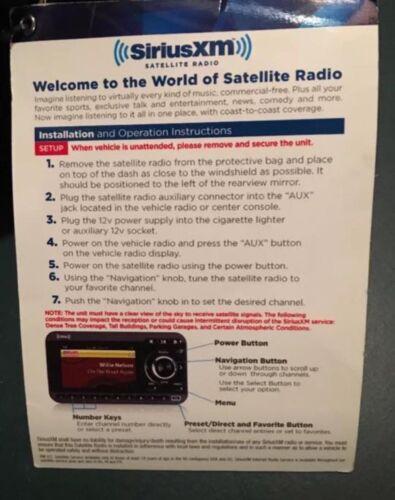 NEW Sirius XM Satellite Radio Xpress RCi w// car kit Panavise mount carrying case