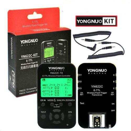 Yongnuo YN-622C KIT = YN622C RX + YN622C-TX HSS E-TTL Wireless Flash Trigger US5